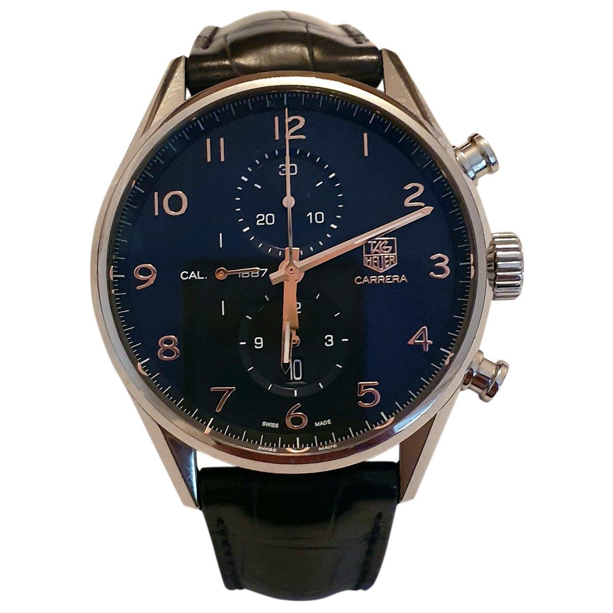 Tag Heuer Carrera Black Steel Watch for Men