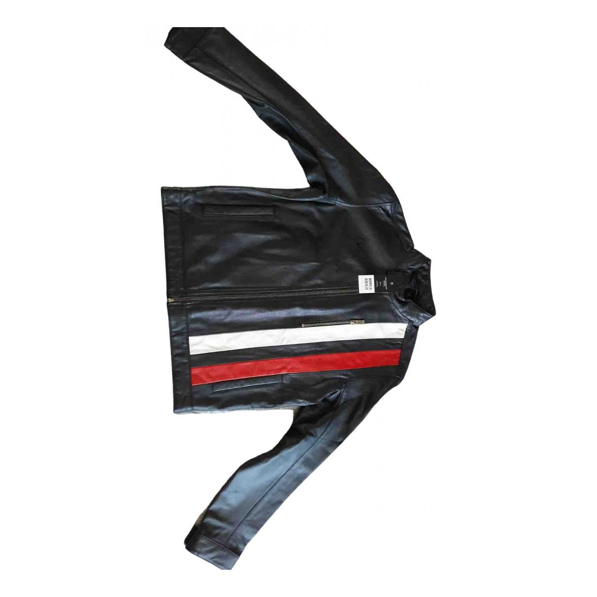 Tag Heuer N Black Leather Jacket for Men