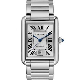 Tank Must Extra Large Stainless Steel Bracelet Watch