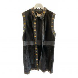 Temperley London Leather short vest