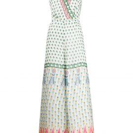 Temperley London gem print jumpsuit - White