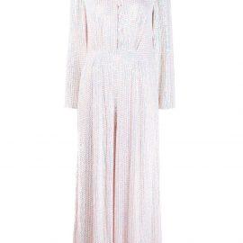 Temperley London wide leg sequinned jumpsuit - White
