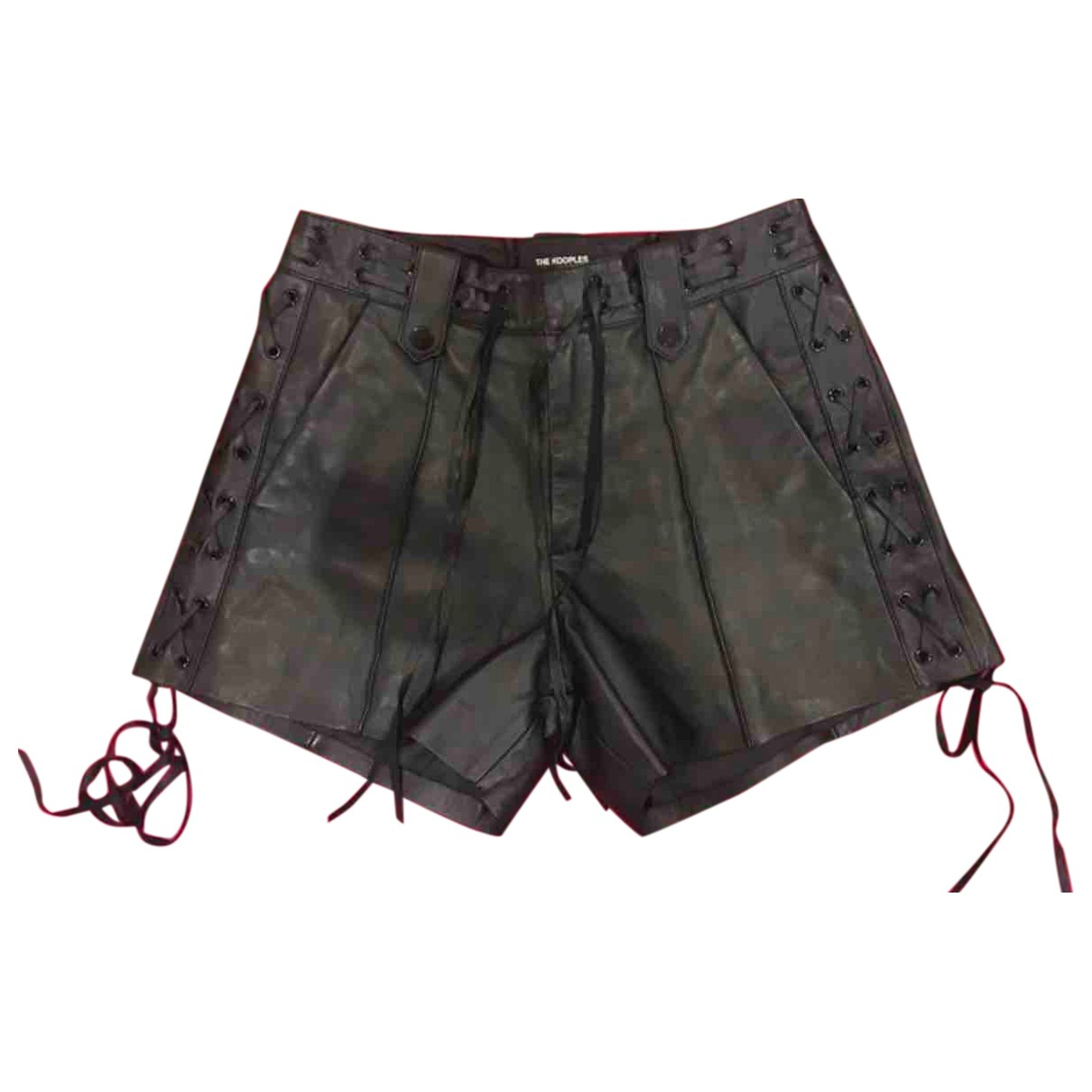 The Kooples N Black Leather Shorts for Women