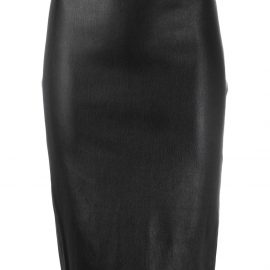 Theory faux leather pencil skirt - Black