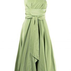 Tibi one-shoulder midi dress - Green