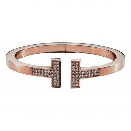 Tiffany & Co Tiffany T pink gold bracelet
