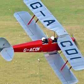 Tiger Moth Aerobatic Flight in Wiltshire