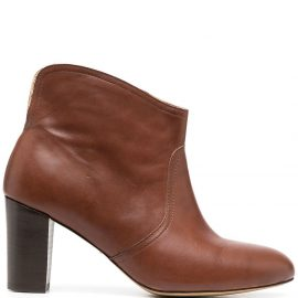 Tila March Neal cowboy ankle boots - Brown
