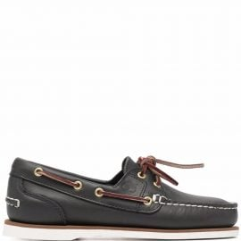 Timberland lace-up leather boat shoes - Blue