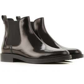 Tods Chelsea Boots for Women On Sale, Black, Patent Leather, 2021, 5.5 6 6.5 7.5