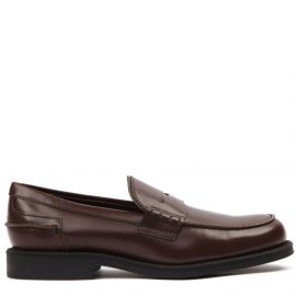 Tods Dark Brown Leather Loafer
