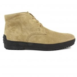Tods Desert Boots In Beige Suede