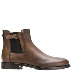 Tod's buckle detail chelsea boots - Brown