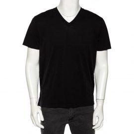 Tom Ford Black Jersey V-Neck T-Shirt XL