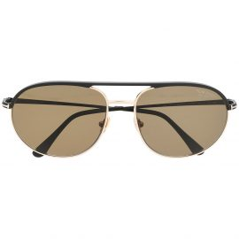 Tom Ford Eyewear rounded-aviator sunglasses - Black