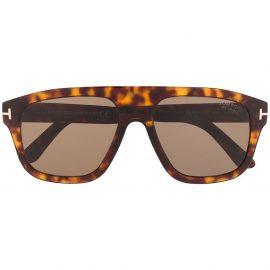 Tom Ford Eyewear tortoiseshell aviator frame sunglasses - Brown