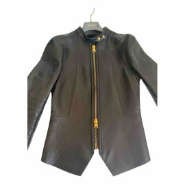 Tom Ford N Black Leather Leather Jacket for Women
