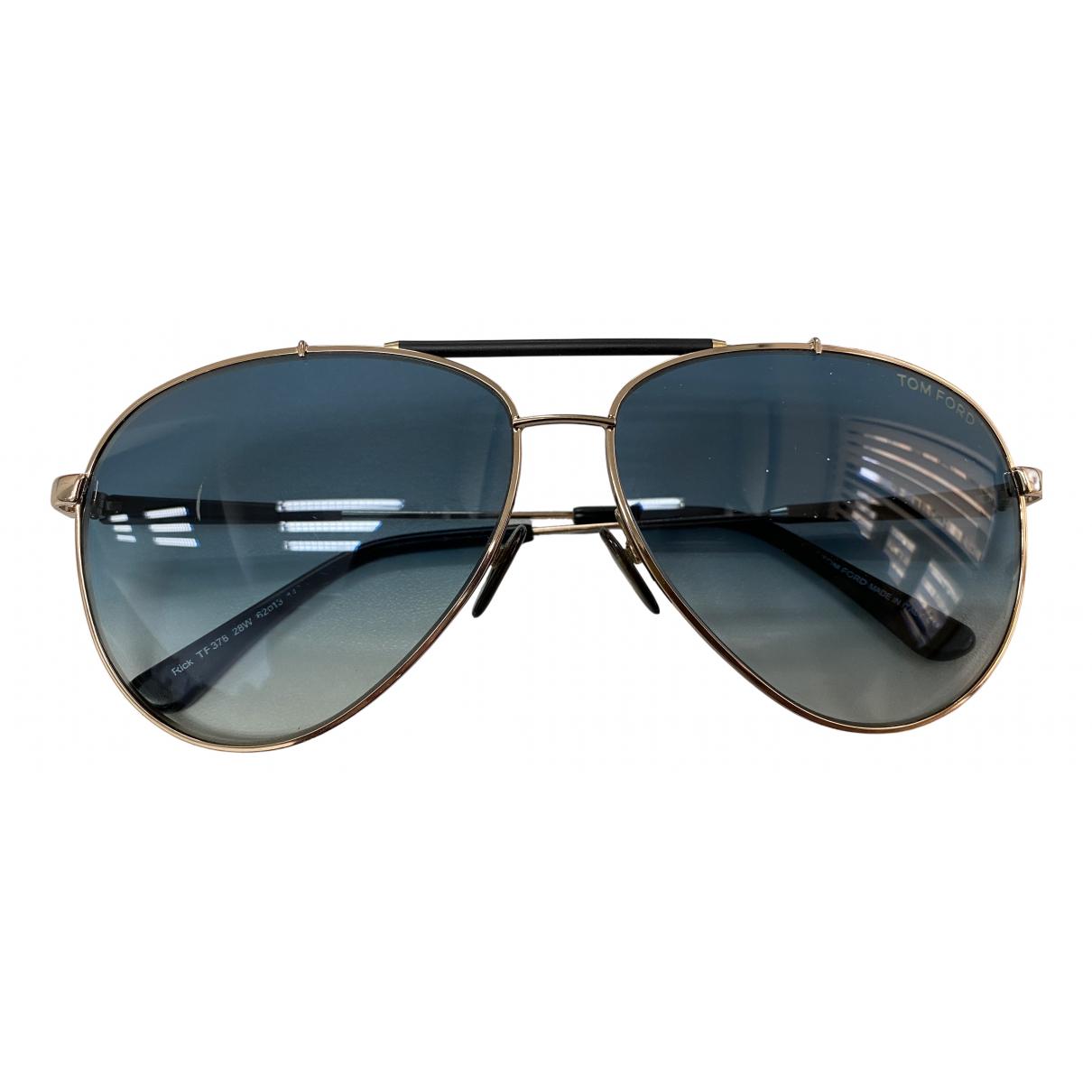 Tom Ford N Blue Metal Sunglasses for Men