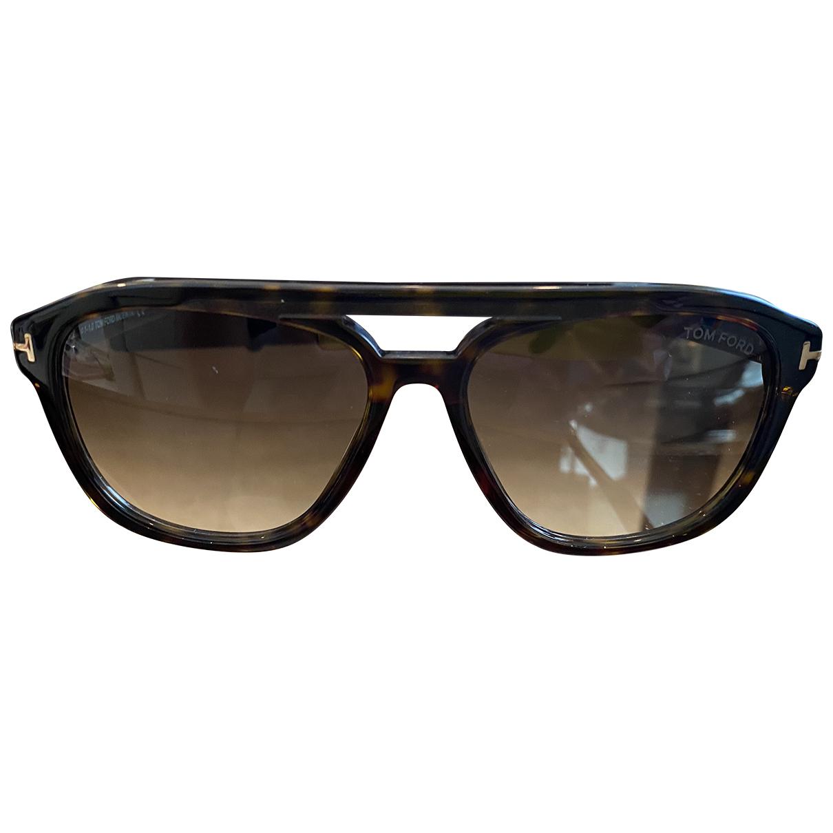 Tom Ford N Brown Metal Sunglasses for Men