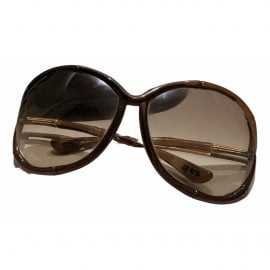 Tom Ford N Brown Metal Sunglasses for Women