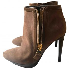 Tom Ford N Brown Suede Ankle boots for Women