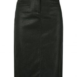 Tom Ford coated biker pencil skirt - Black