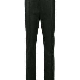 Tom Ford coated biker trousers - Black