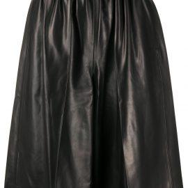Tom Ford knee length leather shorts - Black