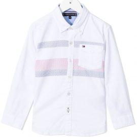 Tommy Hilfiger Junior stripe-detail Oxford shirt - White