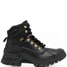 Tommy Hilfiger lace-up hiking boots - Black