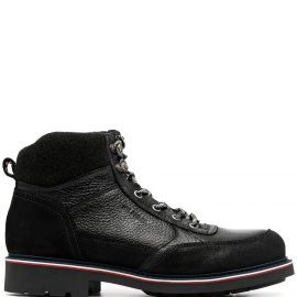 Tommy Hilfiger leather hiking boots - Black