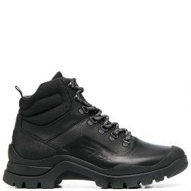 Tommy Hilfiger logo-debossed hiking boots - Black