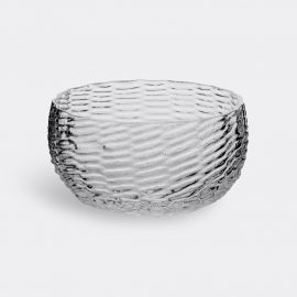 Tre Product Tableware - 'Wicker Glass Bowl' in Transparent Mold-blown glass pressed into