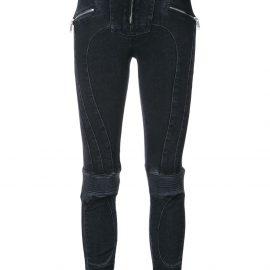 UNRAVEL PROJECT high rise biker skinny jeans - Black