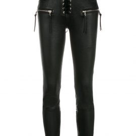 UNRAVEL PROJECT skinny lace-up jeans - Black