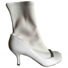 Valentino Garavani N Ecru Leather Ankle boots for Women