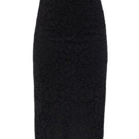 Valentino - High-rise Cordonnet-lace Pencil Skirt - Womens - Black