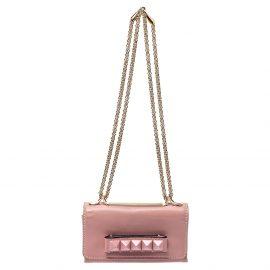Valentino Pink Leather Mini Va Va Voom Chain Shoulder Bag