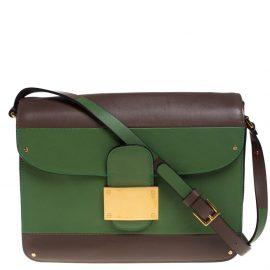 Valentino Tricolor Leather Rivet Shoulder Bag