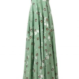 Valentino floral print strapless gown - Green