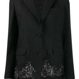 Valentino lace panel blazer - Black