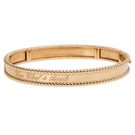 Van Cleef & Arpel Perlee Signature 18K Rose Gold Bracelet