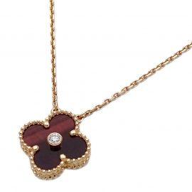 Van Cleef & Arpels Vintage Alhambra 18K Rose Gold Diamond Necklace