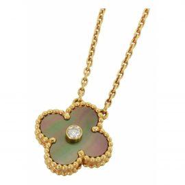 Van Cleef & Arpels Vintage Alhambra Gold Pink gold Necklace for Women