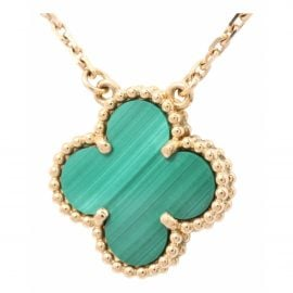 Van Cleef & Arpels Vintage Alhambra Green Yellow gold Necklace for Women