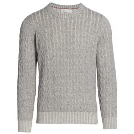 Vanise Cable Knit Cashmere Sweater