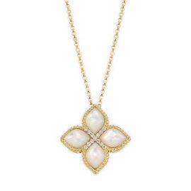 Venetian Princess 18K Yellow Gold, Diamonds & Mother-of-Pearl Pendant Necklace