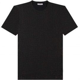Versace Collection Men's Gold Studded T-Shirt Black