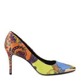 Versace Jeans Couture Baroque Print Satin Pumps