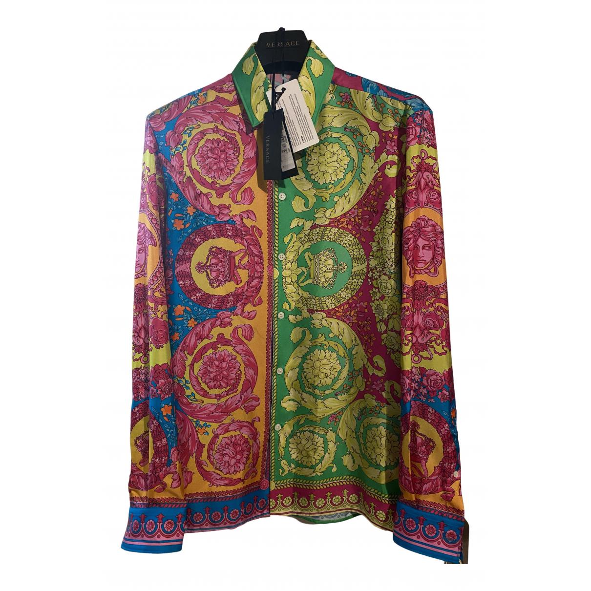 Versace N Multicolour Silk Shirts for Men